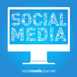 Social media vector icons Royalty Free Stock Photo