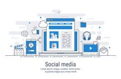 Social media vector illustration Stock Photo