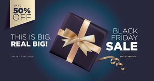 Black Friday sale banner royalty free stock photos