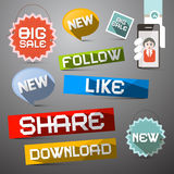 Social Media Vector Symbols Set Stock Image