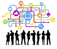 Social Media-Verbindungs-Vektor Stockbilder