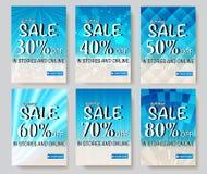 Social Media-Verkaufsfahnen Stockbilder