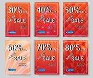 Social Media-Verkaufsfahnen Lizenzfreies Stockbild