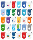 Social Media Vertical Labels with Icons [1] Royalty Free Stock Photography