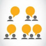 Social media viral marketing people Stock Images