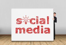 Social media on wall Stock Photography