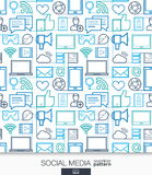 Social Media wallpaper. Network communication seamless pattern. Royalty Free Stock Image