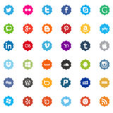 Social media and web icons flat Stock Photography