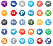 Social media and web icons flat Stock Image