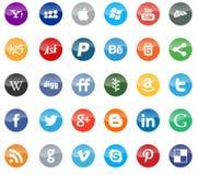 Social media and web icons flat Stock Image