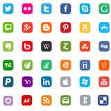 Social media and web icons flat Stock Images