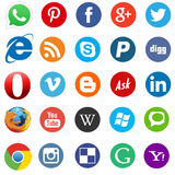 Social media and web icons flat Royalty Free Stock Photography