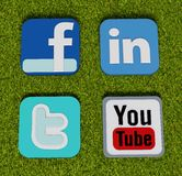 Social media and web icons Stock Photography