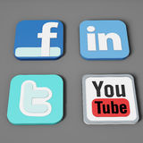 Social media and web icons Stock Photos