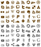 Social media  and web icons vector Stock Photography