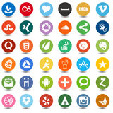 Social media and web iconstrigonal Royalty Free Stock Photography