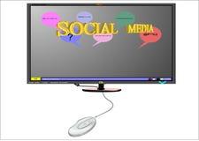 Social media on white Royalty Free Stock Photos