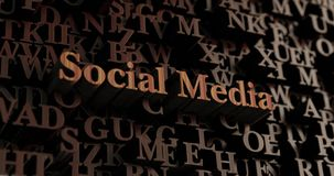 Social Media - Wooden 3D rendered letters/message Stock Photo