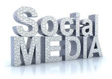 Social Media word Stock Image