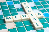 Social Media word Royalty Free Stock Images