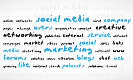Social Media Word Cloud Stock Photos