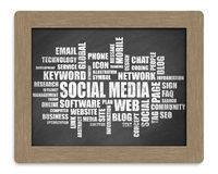 Social Media Word Cloud Chalkboard Royalty Free Stock Photography