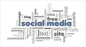 Social media word cloud concept Stock Photography