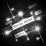 SOCIAL MEDIA. Word cloud illustration. Tag cloud concept collage Royalty Free Stock Image