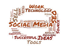 Social Media word cloud Royalty Free Stock Image