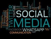 Social Media Word Cloud stock image
