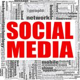 Social media word cloud. Concept on white background, 3d rendering Stock Photos