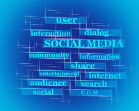 Social Media word concept Stock Photography