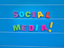 Social media word text Stock Images