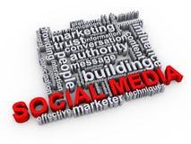 Social media wordcloud Stock Photography