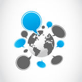 Social media world group Royalty Free Stock Images