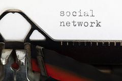 Social media written on old typewriter Royalty Free Stock Photo