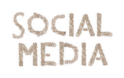 Social Media written with small cubes Royalty Free Stock Images