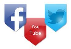 Social Media-Zeichen Stockbilder