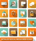 Social, medio, iconos del web Imagen de archivo