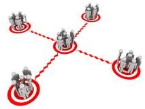 Social nätverkande royaltyfri illustrationer