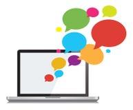 Social nätverkande- och kommunikationsvektor för pratstund Royaltyfria Foton