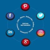 Social nätverksbild 1 royaltyfri illustrationer