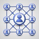 Social nätverkssymbol Royaltyfri Fotografi