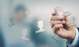 Social net concept Royalty Free Stock Images