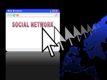Social Network (03) Stock Photo
