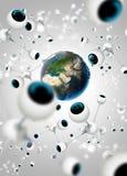 Social Network. The global social network illustration Royalty Free Stock Photo