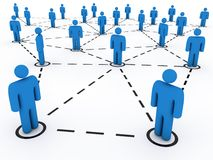 Social network. Linked and isolated figures. Network concept Royalty Free Stock Photography