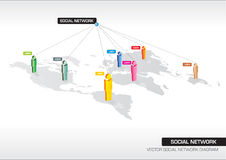 Social Network. Vector 3D Diagram Of Social Network Royalty Free Stock Image