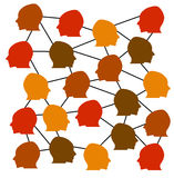 Social network. Connections between people in a social network Stock Image