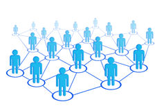 Social network. Social network of business people Royalty Free Stock Photo